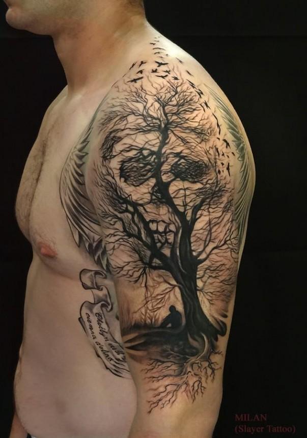 Hidden Skull Tattoo
