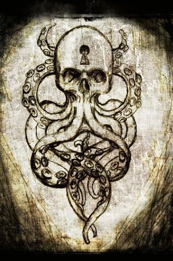 Octopus Skull tattoo design drawing
