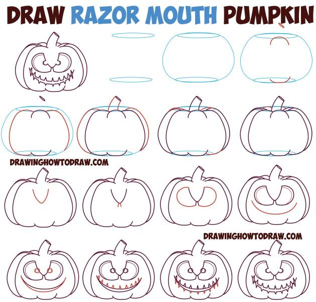Razor mouth pumpkin tutorial