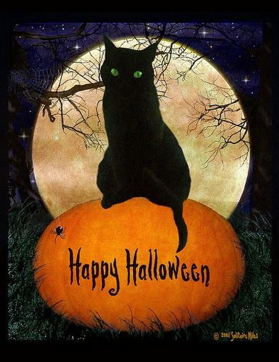happy halloween scary town wish card