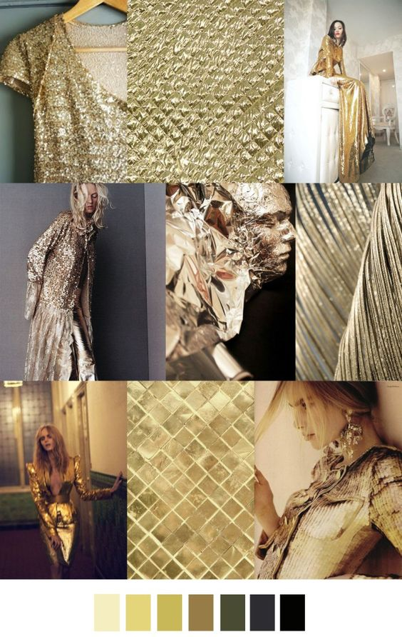 fall winter 2017-2018 colors trends patterns - gold glamour