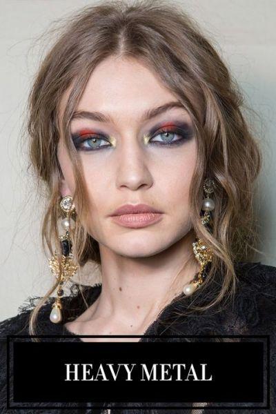 fall winter makeup trends Heavy metal