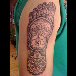 Buddha's Footprint Tattoo Design