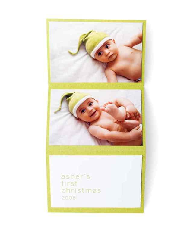 fun photo Christmas folding cards ideas