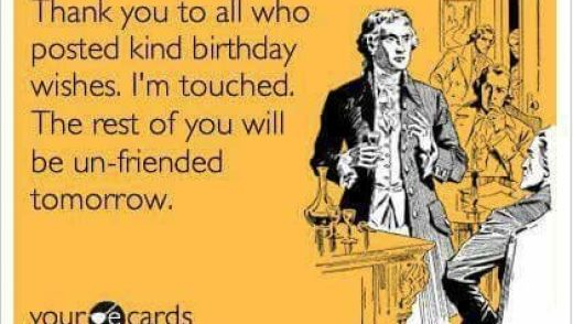 sarcastic funny thank you birthday ecard ideas