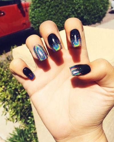 Galaxy nails design