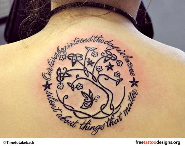 Tree of life tattoos with quotes