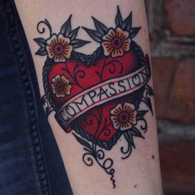 compassion heart tattoo