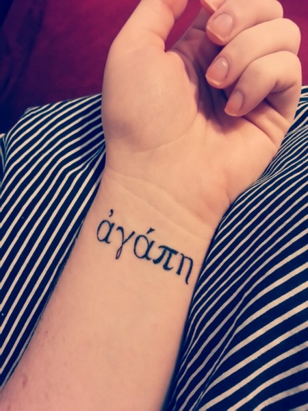 agape tattoo