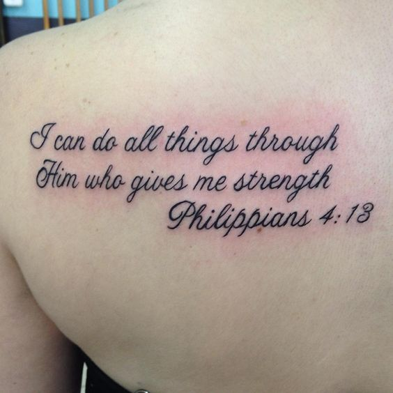 bible verse tattoos on back