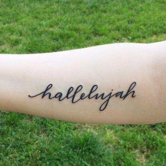 hallelujah tattoo
