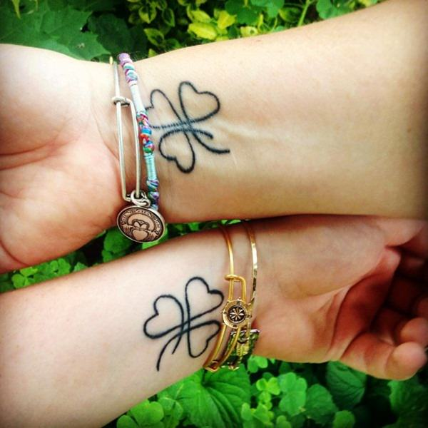 3 leaf clover tattoo