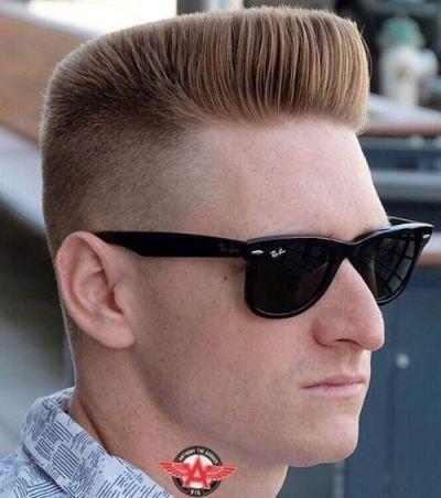 Blonde Flat Top Haircut