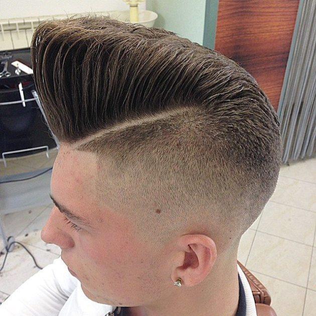 Slanting High Cliff Flat Top Haircut