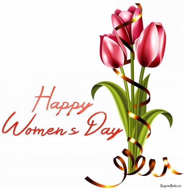 happy womens day tulip flowers