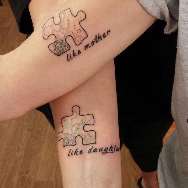 like mother like daughter tattoos
