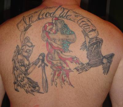 in god we trust tattoo for soldiers