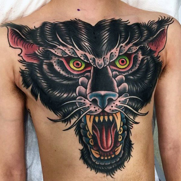 angry beast traditional tattoo ideas