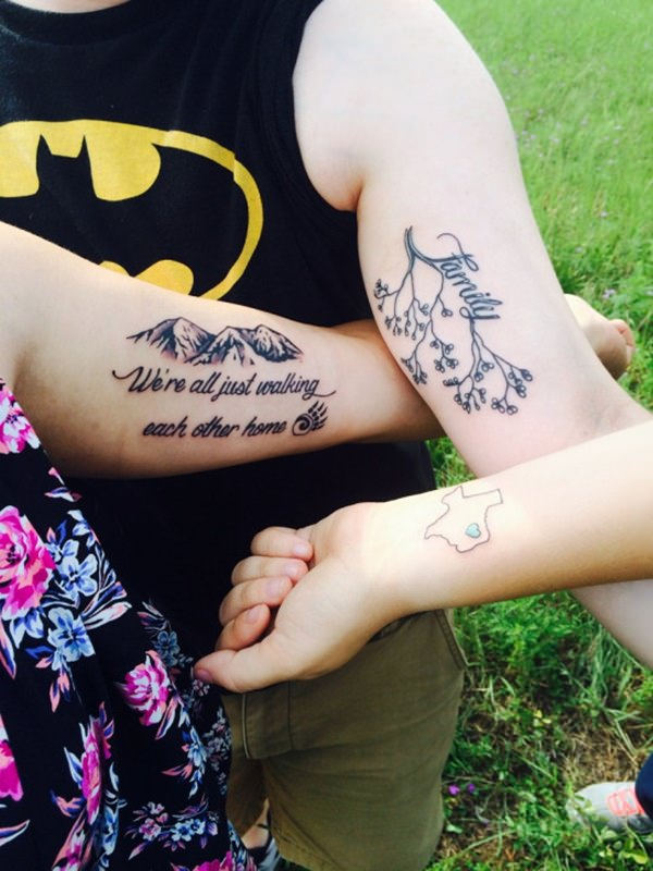 family tree with family quote tattoo ideas