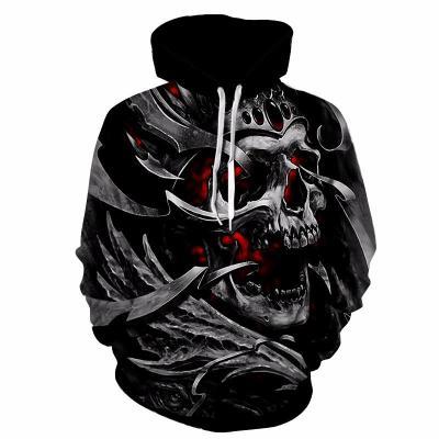 bloody 3d skull hoodie for halloween night