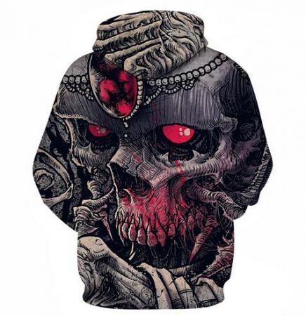bloody skull 3d hoodie for halloween
