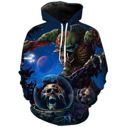 halloween alien night hoodies
