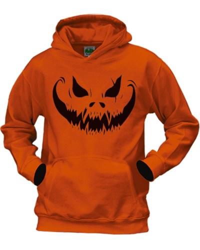 scary pumpkin face halloween hoodie