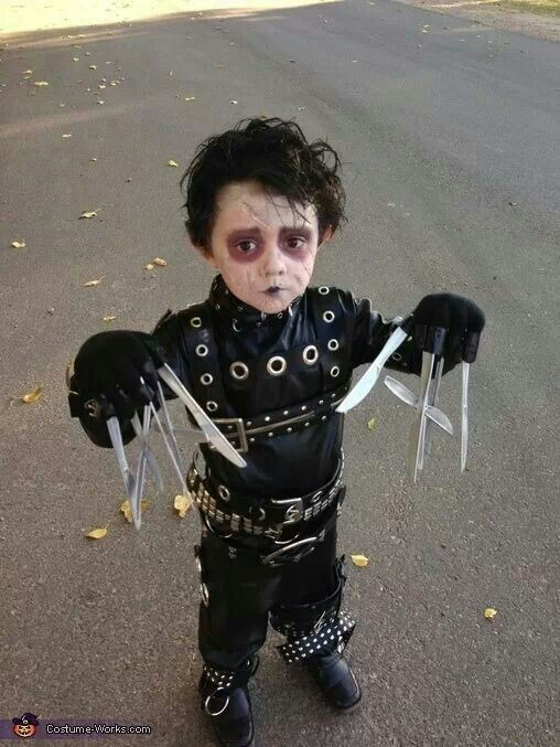 baby edward scissorhands scary halloween costume ideas