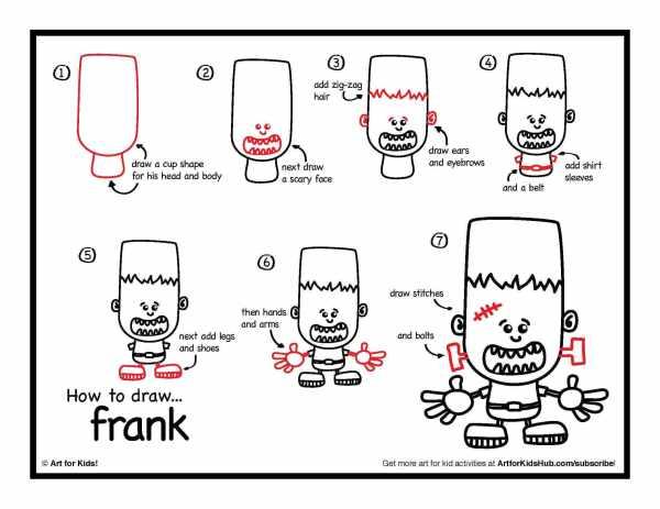 best frankenstein sketch halloween drawing ideas