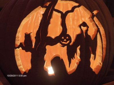 grim reaper pumpkin carved ideas