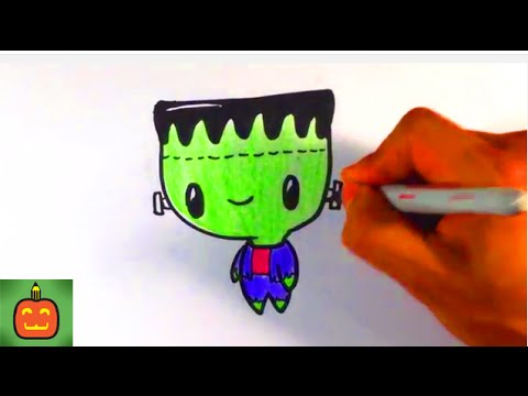 how to draw diy cute frankenstein for halloween
