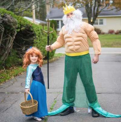 king triton and ariel father daughter halloween costume ideas