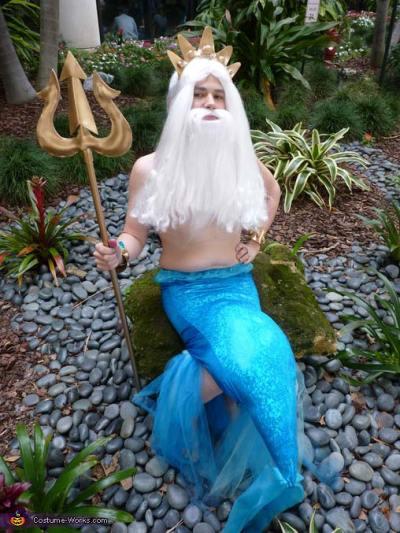 king triton little mermaid dad diy costume ideas