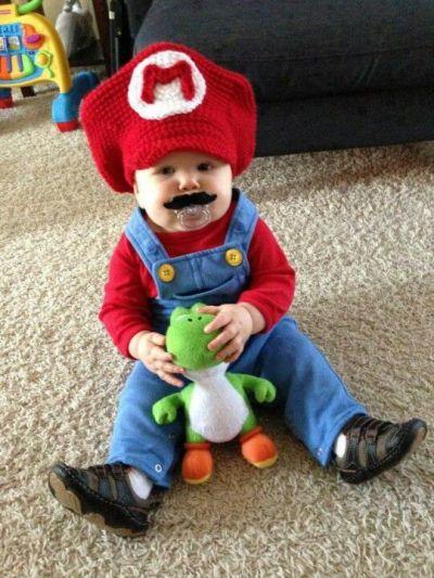 super mario toddler costume