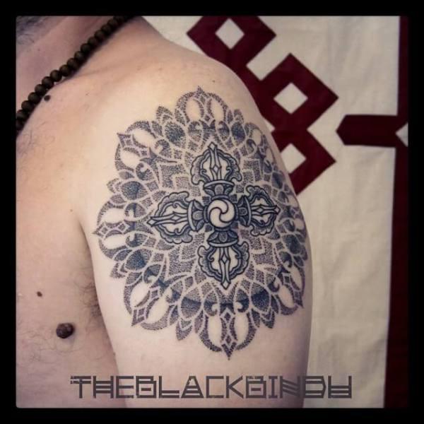 Tibetan vajra tattoo design