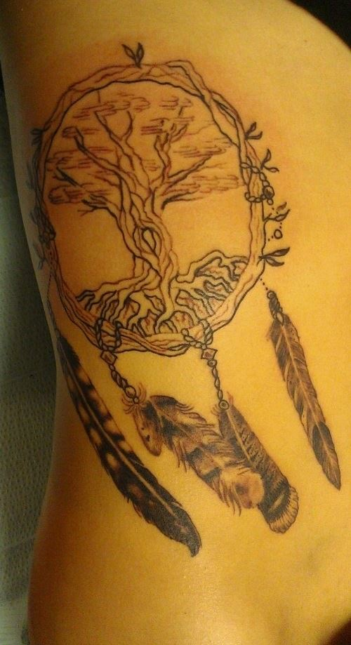bodhi tree tree of life dreamcatcher tattoo