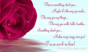 love quote with rose image