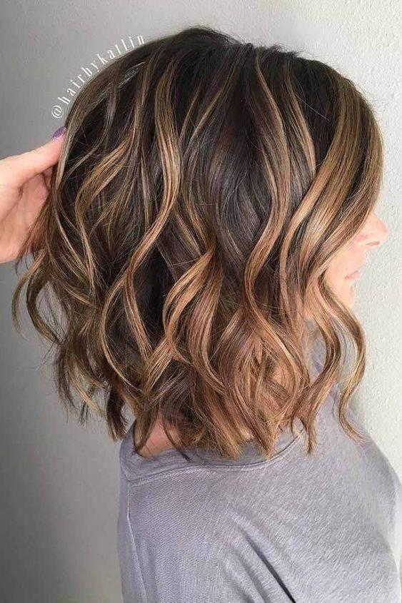 medium layered thick bob haircut