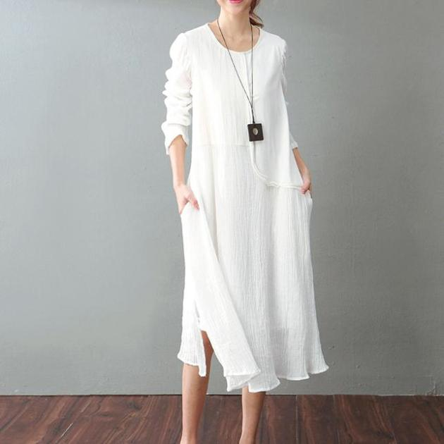 vintage white cotton maxi dress