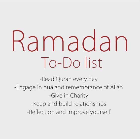 ramadan to do list