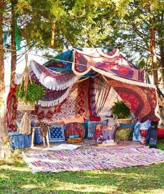 boho chic decor ideas for summer garden party
