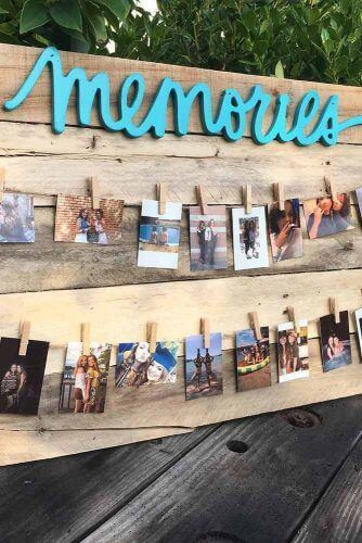 graduation memories photos display for summer garden party decorations