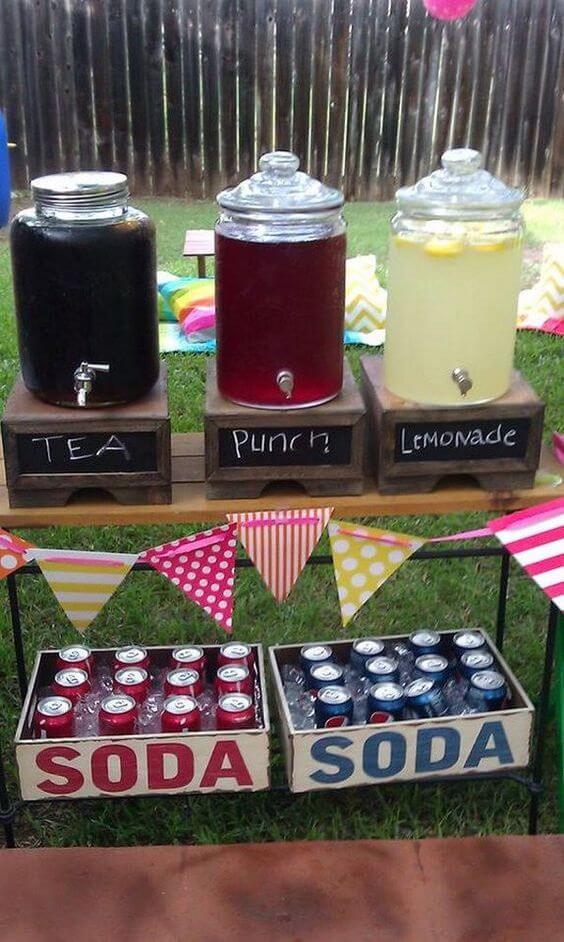 summer garden party drinks