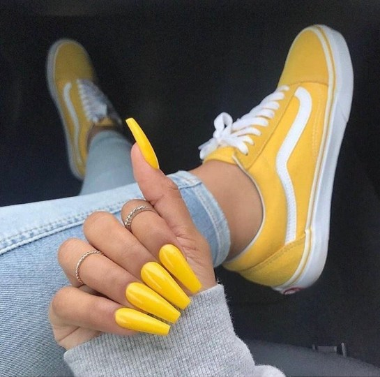 long yellow coffin nails