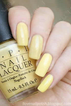 pale yellow nail polish art