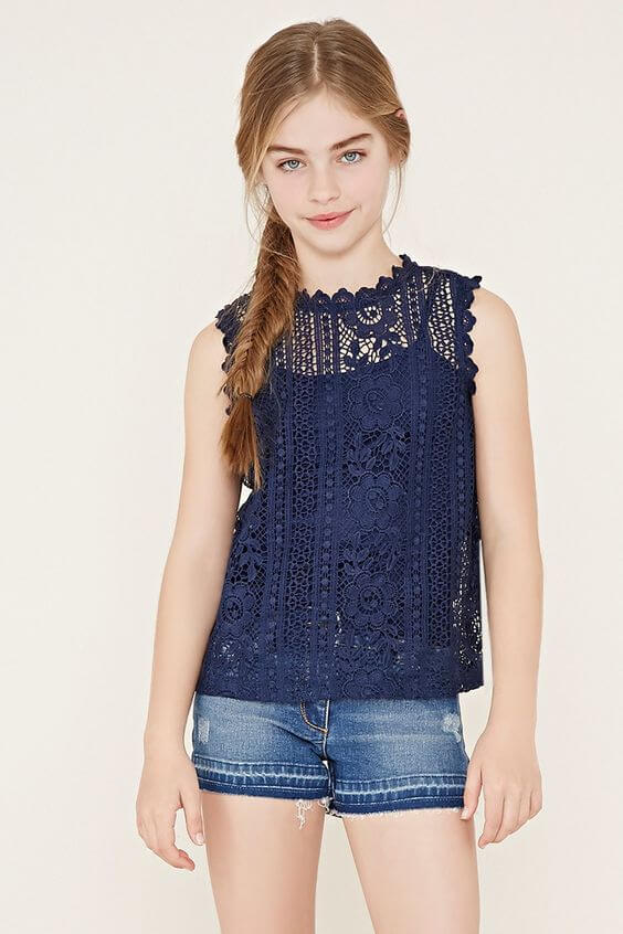 lace tops outfit