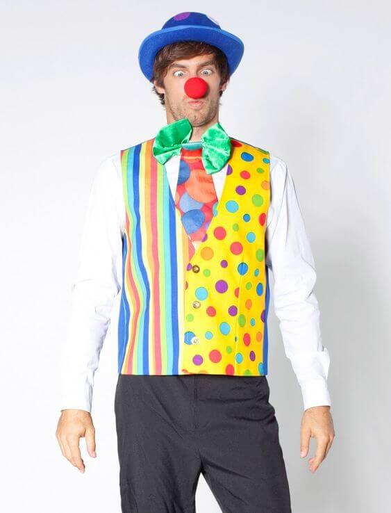 diy halloween clown costume ideas for men