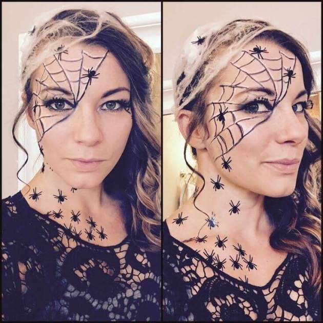 diy halloween spider makeup ideas for women