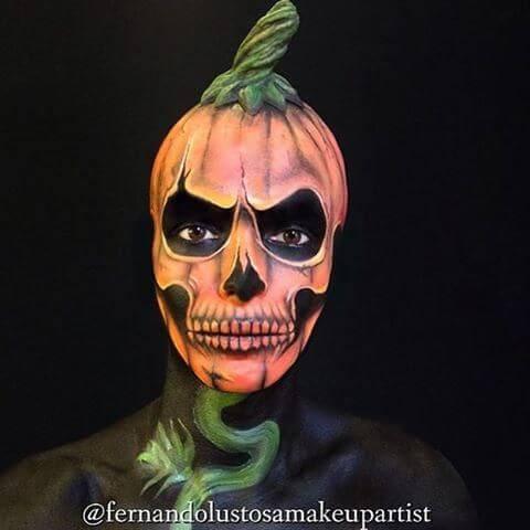 halloween jack o lantern body painting ideas for men