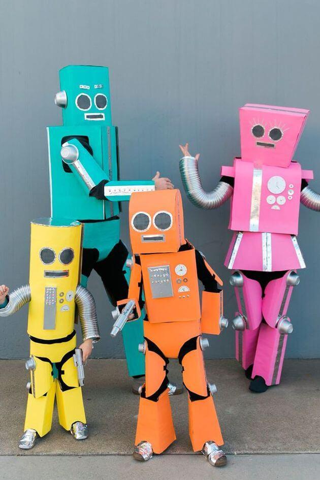 robot family halloween costume ideas